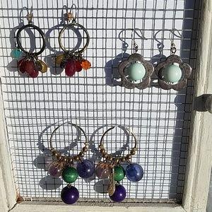 Fossil drop pierced earrings multi colored (3)